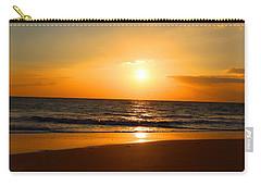 Walk On Hawaiian Beach Carry-all Pouch by Michael Rucker