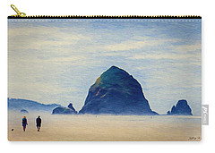 Walk On The Beach Carry-all Pouch by Jeff Kolker
