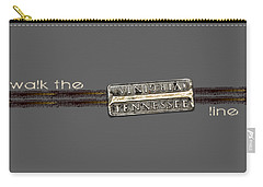 Carry-all Pouch featuring the photograph Walk The Line Light Lettering by Heather Applegate