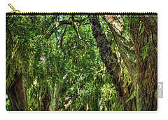 Carry-all Pouch featuring the photograph Walk With Me Avenue Of Oaks St Simons Island Art by Reid Callaway