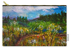 Carry-all Pouch featuring the painting Walk With Me by Claire Bull