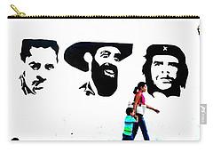 Walking A Revolution Wall In Havana Cuba  Carry-all Pouch