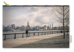 Walking Along Hoboken's Hudson River Waterfront Walkway Carry-all Pouch