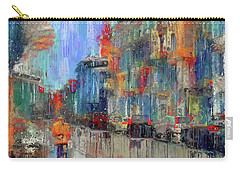 Walking Down Street In Color Splash Carry-all Pouch