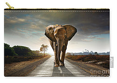Walking Elephant Carry-all Pouch