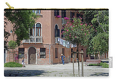 Walking In A Quiet Neighborhood On Murano Carry-all Pouch