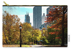 Walking In Central Park Carry-all Pouch