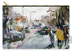 Walking In Maine Carry-all Pouch by Robert Joyner