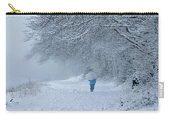 Walking In The Snow Carry-all Pouch
