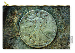Carry-all Pouch featuring the digital art Walking Liberty Half Dollar Obverse by Randy Steele
