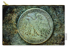 Carry-all Pouch featuring the digital art Walking Liberty Half Dollar Reverse by Randy Steele