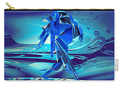 Carry-all Pouch featuring the digital art Walking On A Stormy Beach by Robert G Kernodle