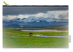 Carry-all Pouch featuring the photograph Walking The Big Valley by Yeates Photography