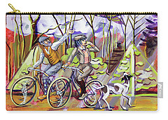 Carry-all Pouch featuring the painting Walking The Dog 1 by Mark Howard Jones
