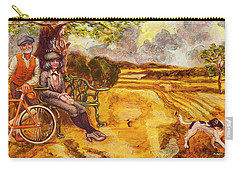 Walking The Dog After Gainsborough Carry-all Pouch by Mark Jones