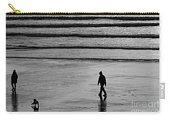 Carry-all Pouch featuring the photograph Walking The Dog At Marazion by Brian Roscorla