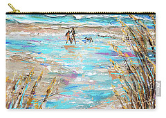 Walking The Dog IIi Carry-all Pouch by Linda Olsen