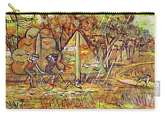 Carry-all Pouch featuring the painting Walking The Dog 4 by Mark Howard Jones