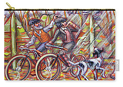 Carry-all Pouch featuring the painting Walking The Dog 2 by Mark Howard Jones