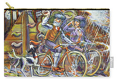 Carry-all Pouch featuring the painting Walking The Dog 3 by Mark Howard Jones