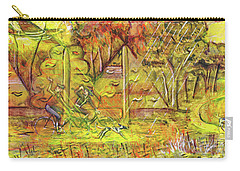 Carry-all Pouch featuring the painting Walking The Dog 5 by Mark Howard Jones