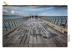 Carry-all Pouch featuring the photograph Walking The Pier by Perry Webster