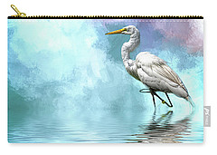 Walking Thru The Marsh Carry-all Pouch by Cyndy Doty