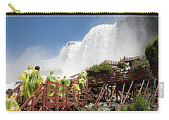 Carry-all Pouch featuring the photograph Walking Up Below Niagara Falls by Jeff Folger