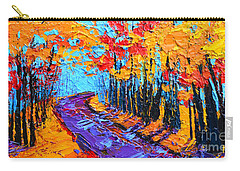 Walking Within - Enchanted Forest Collection - Modern Impressionist Landscape Art - Palette Knife Carry-all Pouch