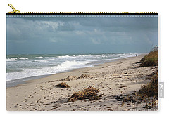 Walks On The Beach Carry-all Pouch