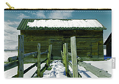 Carry-all Pouch featuring the photograph Walkway To An Old Barn by Jeff Swan