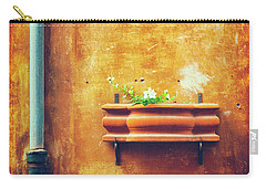 Carry-all Pouch featuring the photograph Wall Gutter Vase by Silvia Ganora