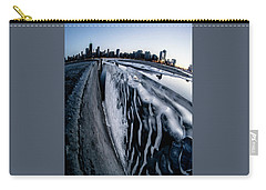 Wall Of Ice And Chicago Skyline At Dusk  Carry-all Pouch
