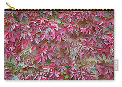 Carry-all Pouch featuring the photograph Wall Of Leaves 1 by Dubi Roman