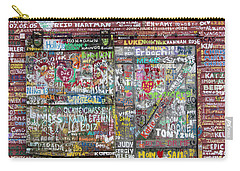 Carry-all Pouch featuring the photograph Wall Of Love by Joel Witmeyer