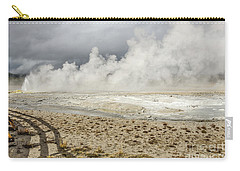 Carry-all Pouch featuring the photograph Wall Of Steam by Sue Smith