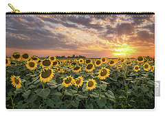 Wall Of Sunflowers Carry-all Pouch