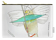 Wallace's Standardwing Bird Of Paradise Carry-all Pouch by Keshava Shukla