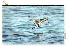 Willet Landing On Lake Carry-all Pouch
