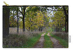 Carry-all Pouch featuring the photograph Walnut Lane by Melissa Lane
