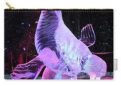 Carry-all Pouch featuring the photograph Walrus Ice Art Sculpture - Alaska by Gary Whitton