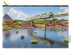 Carry-all Pouch featuring the photograph Walt Disney World Epcot Flower Festival by Robert Bellomy