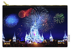 Walt Disney World Fireworks  Carry-all Pouch by Mark Andrew Thomas