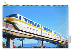 Carry-all Pouch featuring the photograph Walt Disney World Monorail by Mark Andrew Thomas