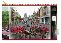 Walt Disney World Transportation 3 Panel Composite 02 Mp Carry-all Pouch