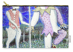 Carry-all Pouch featuring the painting Wand With Magician And Jester by Lise Winne