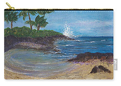 Carry-all Pouch featuring the painting Wanna Go by Margaret Bobb