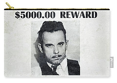 Wanted John Dillinger 1934 Carry-all Pouch