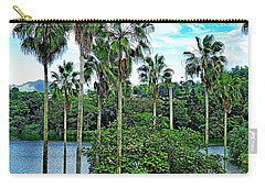 Waokele Pond Palms And Sky Carry-all Pouch