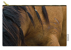 Carry-all Pouch featuring the photograph War Horse by Lorraine Devon Wilke